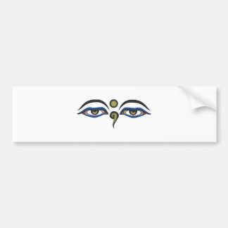 Eyes Of Buddha Bumper Sticker