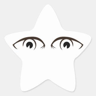 Eyes of eyes star stickers