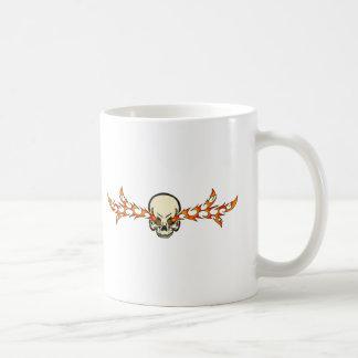 Eyes of Fire Skull Mugs