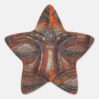 Eyes of the Buddha Star Sticker