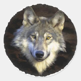 Eyes of the Mystic Grey Wolf Sticker