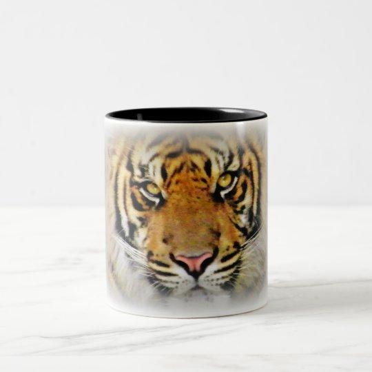 Eyes of the Tiger,Love_ Two-Tone Coffee Mug