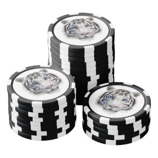 Eyes of the Tiger Poker Chips Set