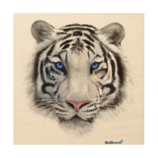 Eyes of the Tiger Wood Canvas