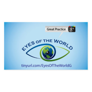 Eyes of the World Business Card Template