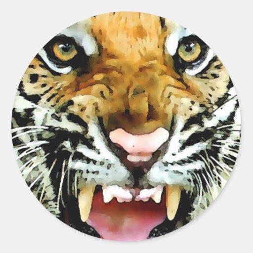 Eyes of Tiger Classic Round Sticker