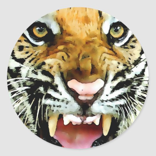 Eyes of Tiger Round Sticker