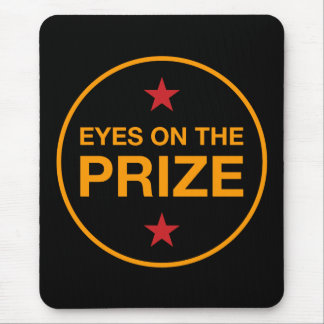 Eyes On The Prize Stars Circle (Choose Your Color) Mouse Pad