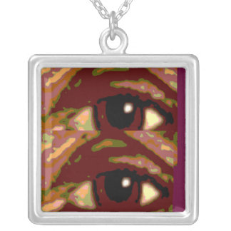 EYES on YOU Square Pendant Necklace