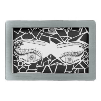 eyes rectangular belt buckles