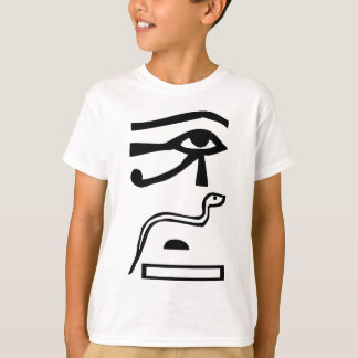 Eyes & Snake, Egyptian hieroglyph T-Shirt