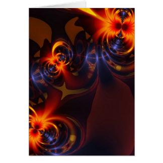 Eyes & Swirls – Amber & Indigo Delight Greeting Card