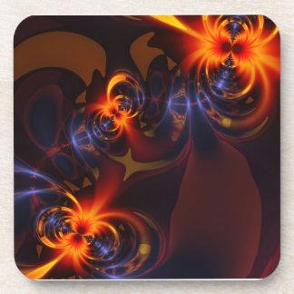 Eyes Swirls – Amber Indigo Delight Drink Coaster