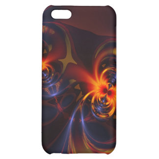 Eyes & Swirls – Amber & Indigo Delight Cover For iPhone 5C
