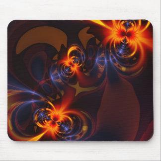 Eyes Swirls – Amber Indigo Delight Mouse Pad