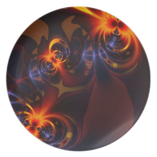 Eyes & Swirls – Amber & Indigo Delight Plates