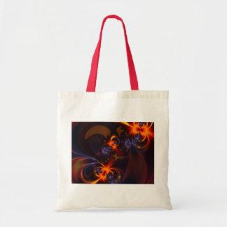 Eyes & Swirls – Amber & Indigo Delight Budget Tote Bag