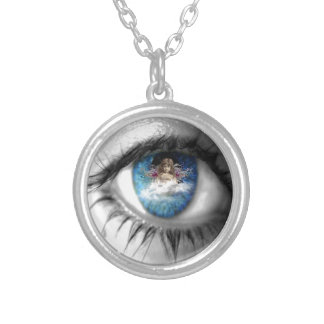 Eyes to the Soul Round Pendant Necklace