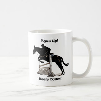 Eyes Up! Heels Down! Horse Coffee Mug