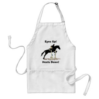 Eyes Up! Heels Down! Horse Jumper Aprons