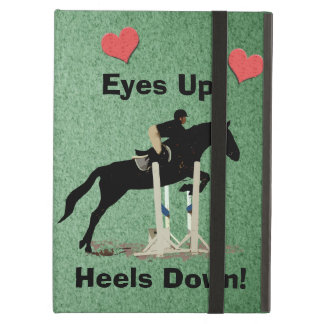 Eyes Up! Heels Down! Horse Jumper Cover For iPad Air