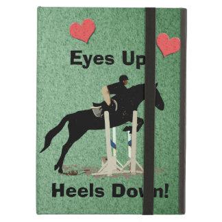 Eyes Up! Heels Down! Horse Jumper iPad Air Covers