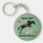 Eyes Up! Heels Down! Horse Jumper Keychain