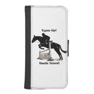 Eyes Up! Heels Down! Horse Jumper iPhone 5 Wallet Cases
