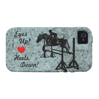 Eyes Up! Heels Down! Hunter Jumper iPhone 4 Case