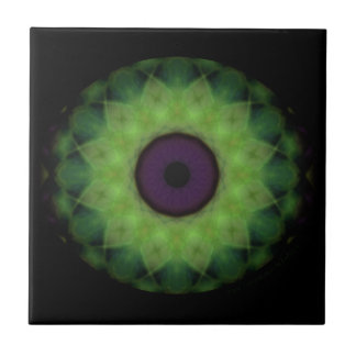 Eyesore Evil Eye Lime Mandala Tile