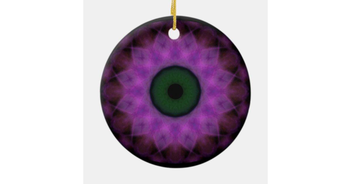 Eyesore Purple Evil Eye Round Ceramic Decoration Zazzle