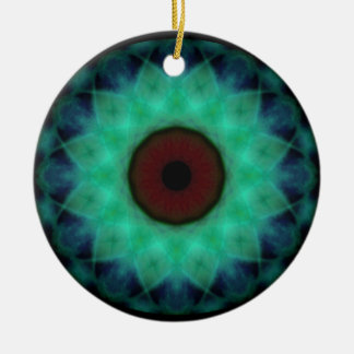 Eyesore Teal Evil Eye Christmas Ornament