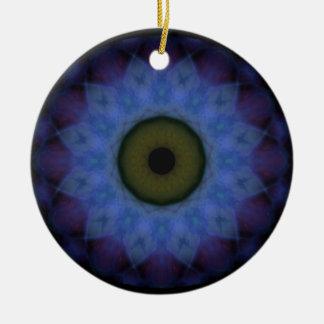 Eyesore Violet Blue Evil Eye Christmas Ornament