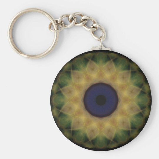 Eyesore Yellow Evil Eye Key Ring