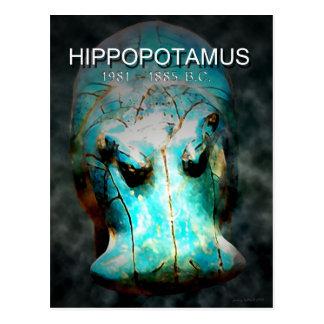 EYGPTIAN BLUE HIPPO POSTCARD
