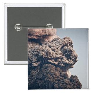 Eyjafjalljokull Volcanic Eruption 15 Cm Square Badge