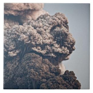 Eyjafjalljokull Volcanic Eruption Large Square Tile