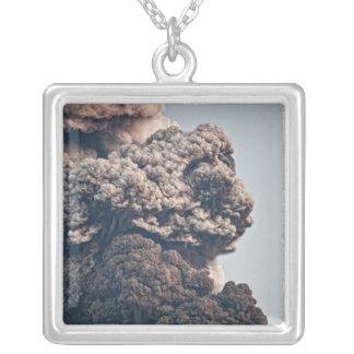 Eyjafjalljokull Volcanic Eruption Silver Plated Necklace
