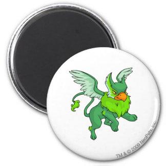 Eyrie Green 6 Cm Round Magnet