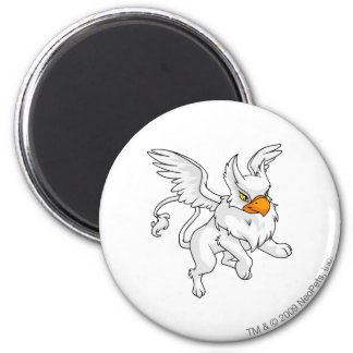 Eyrie White 6 Cm Round Magnet