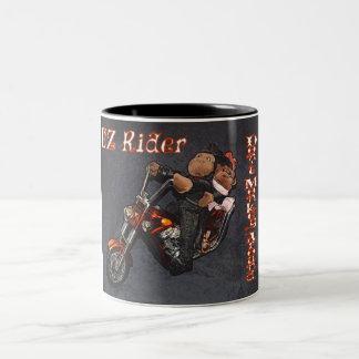 """EZ Rider """"Don't monkey around"""" Two Tone Coffee Mug"""
