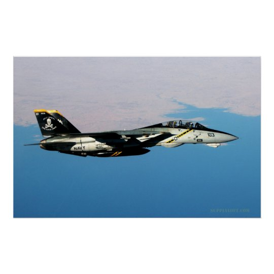 F14 Jolly Rodger Over Iraq Poster