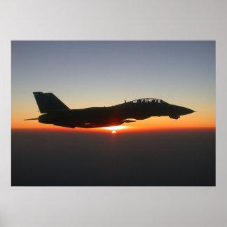 F14 Tomcat Fighter Jet Afghanistan Large Canvas Poster