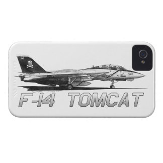 F14 Tomcat VF-103 Jolly Rogers - drawing iPhone 4 Cover