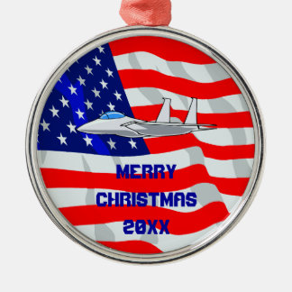 F15 Eagle Fighter Jet Flying Christmas Ornament