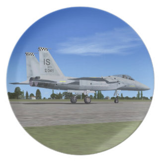 F15 Eagle Fighter Plane Plate