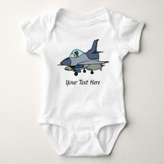 F16 Falcon And Pilot Cartoon Design Tshirt