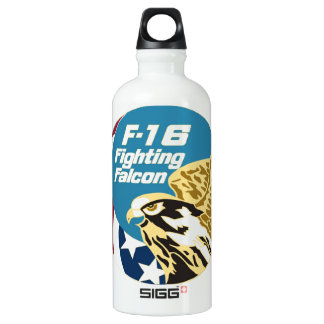 F16 fighting falcon aircraft supersonic airplane SIGG traveller 0.6L water bottle
