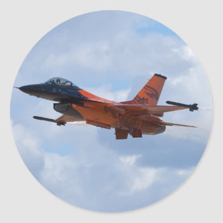 F16 Fighting Falcon Classic Round Sticker
