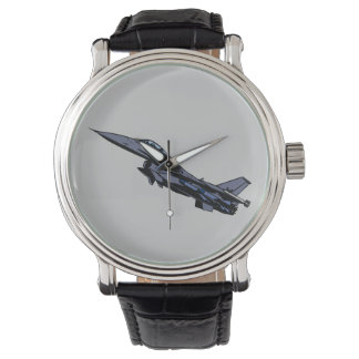 F16 Fighting Falcon Fighter Jet Aircraft Airforce Wristwatches